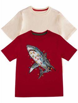 Christmas Short Sleeve Graphic T-shirt - 2 Pack Value Bundle (little Boys, Big Boys & Husky)