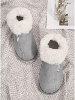 Men Faux Fur Stitch Detail Ankle Boots