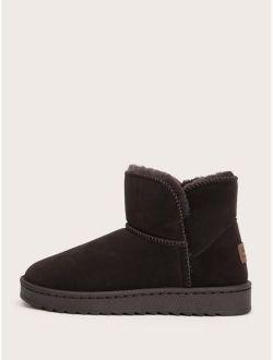 Men Faux Fur Lined Snow Boots