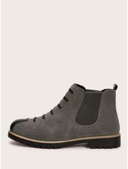 Men Cap Toe Chelsea Boots