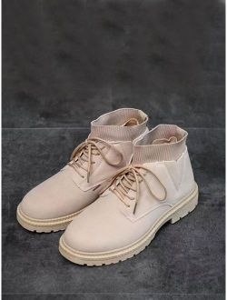 Men Lace-up Front Chukka Boots