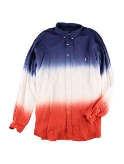 Ralph Lauren Mens Big and Tall Classic Ombre Button Up Shirt