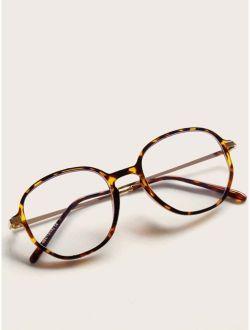 Tortoiseshell Frame Round Glasses