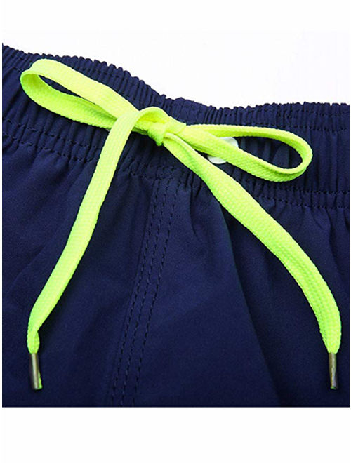 LELINTA Men's Swim Shorts Swimwear Swimming Trunks Charm Solid Color Casual Quick Dry Beach Underpants Black/ Blue/ Green/ Navy Color