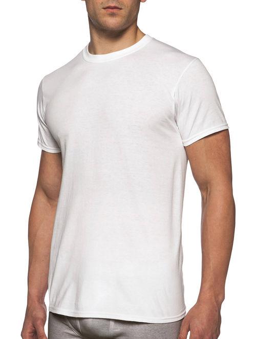 Gildan Men's Tag Free, Crew T-shirts, White, 12-pack