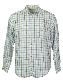 Caribbean Men's Linen Blend Front Buttoned Shirt