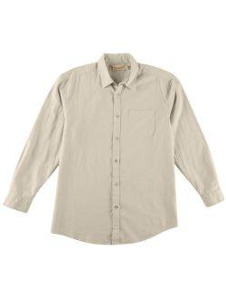Boca Classics Islandwear Mens Solid Linen Button Down Shirt 16W Short