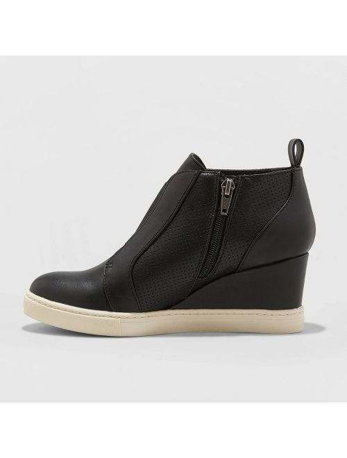 Women's Kolie Microsuede Wedge Sneakers - A New Day™
