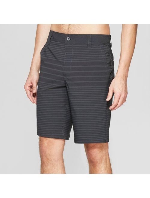 "Men's 10.5"" Striped Hybrid Swim Shorts - Goodfellow & Co™ Black"