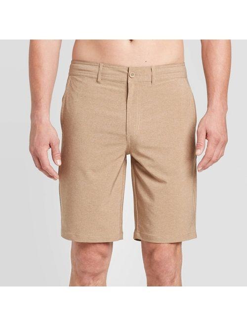 "Men's 10.5"" Rotary Hybrid Shorts - Goodfellow & Co Roasted Almond"