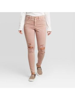 E Distressed Skinny Jeans - Universal Thread Pink