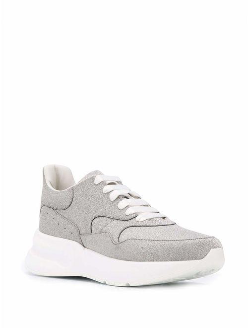 Alexander McQueen Luxury Fashion Mens 575425WHTW08100 Silver Sneakers | Fall Winter 19