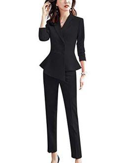 Women's 2 Pieces Office Blazer Suit Slim Fit Work Suits For Women Blazer Jacket, Pant/skirt Suits