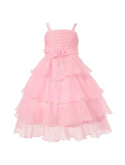 Richie House Girls' Long Dress or Bolero with Pearls Size 3-12Y RH0918