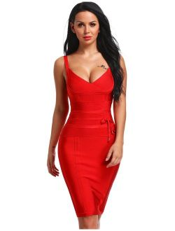 Hego Women's Bandage Dress Spaghetti Strap New Sexy Dresses for Party Club Night H4369-1