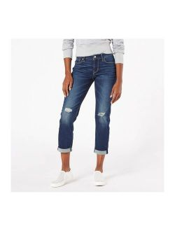 Women's Modern Mid-rise Slim Boyfriend Jeans - Summer Fling