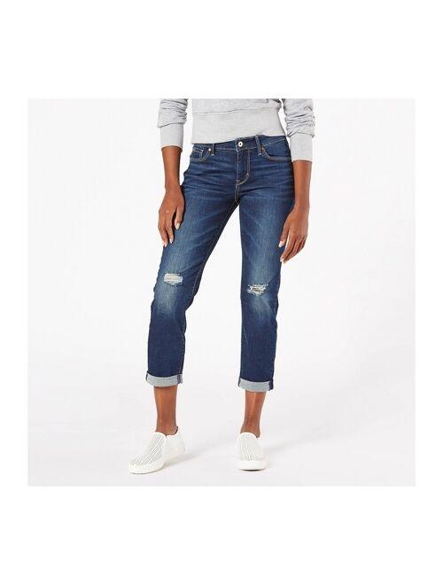 DENIZEN from Levi's Women's Modern Mid-Rise Slim Boyfriend Jeans - Summer Fling
