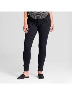 Maternity Inset Panel Skinny Jeans - Isabel Maternity by Ingrid & Isabel™ Black
