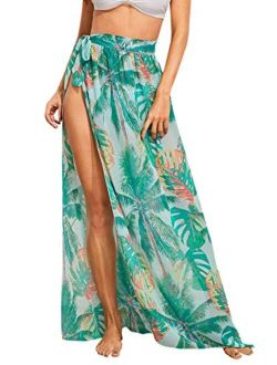 Women's Sheer Beach Swimwear Cover Up Wrap Skirt