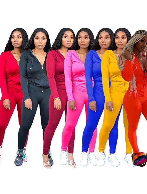 Mintsnow Women Sweatsuits Sets Two Piece Outfits Long Sleeve Sweatshirt and Joggers Pants Tracksuit