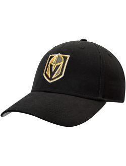 Men's Black Vegas Golden Knights Mass Basic Adjustable Hat - OSFA