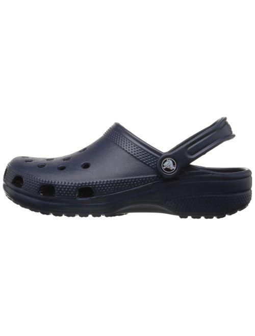 Crocs Classic Clog|Comfortable Slip on Casual Water Shoe, Navy B, 9 Women/7 Men