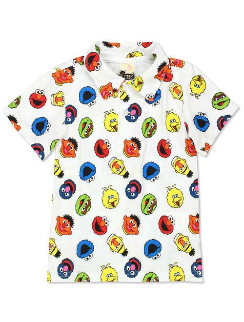 Sesame Street Elmo Boys Baby Toddler Polo Collared Tee Shirt BSGC407