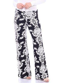 Popana Womens Casual Print Palazzo Pants Plus Size Made in USA