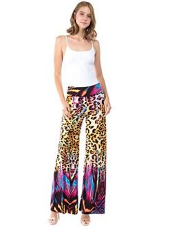 Uptown Apparel Women's High-Waist Wide-Leg Palazzo Lounge Pants - Ideal for Tall Women