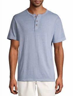 Men's And Big Men's Short Sleeve Fashion Henley, Up To Size 3xl