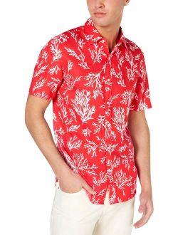 Mens Short Sleeve Printed Casual Shirt