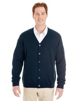 Mens Pilbloc V Neck Button Cardigan Sweater