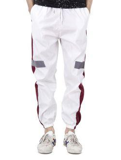 Men's Outdoor Pants Hip Hop Trousers With Elastic Lightweight Hiking Fishing Zip Off Cargo Work Sweat Pants White Black