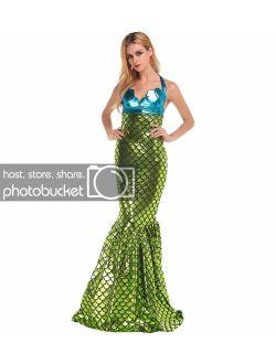 Eternatastic Women Halloween Wet Look Mermaid Costume Adult