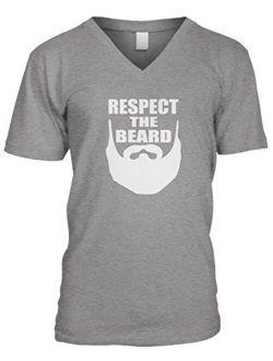 Amdesco Men's Respect The Beard V-Neck T-Shirt