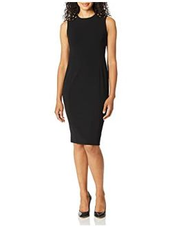 Women's Sleeveless Sheath With Shoulder Cut Outs