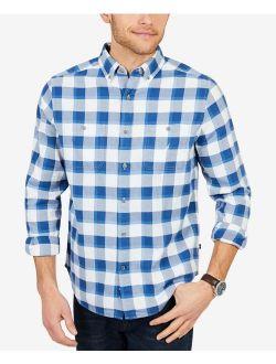 Men's Classic Fit Buffalo Plaid Flannel Shirt, Blue/white