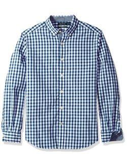 Ls Stretch Poplin Plaid Button Down Shirt
