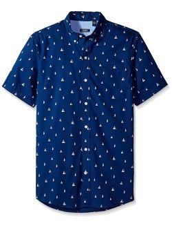 Men's Breeze Short Sleeve Button Down Patterned Shirt
