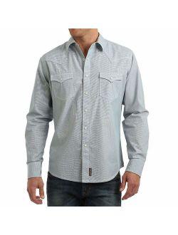 Men's Retro Two Pocket Long Sleeve Snap Shirt
