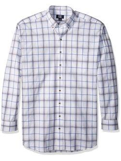 Men's Big And Tall Long Sleeve Tidal Check Shirt, Multi, 5x/big