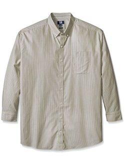 Men's Big And Tall Long Sleeve Camano Wrinkle Free Check, Granada, X-large/tall