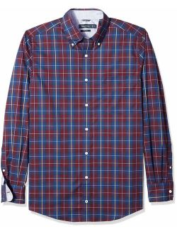 Men's Big And Tall Classic Fit Long Sleeve Plaid Button Down Shirt