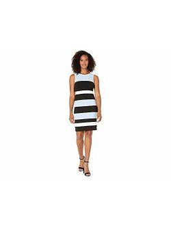 Women's Color Block Stripe Sheath Dress