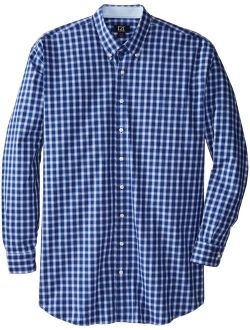 Men's Big And Tall Long Sleeve West Seattle Check Shirt