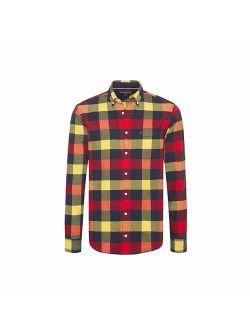 Buffalo Check Flannel Button-down Shirt Multicolor Large