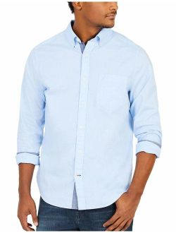 Men's Classic Fit Stretch Solid Long Sleeve Button Down Shirt