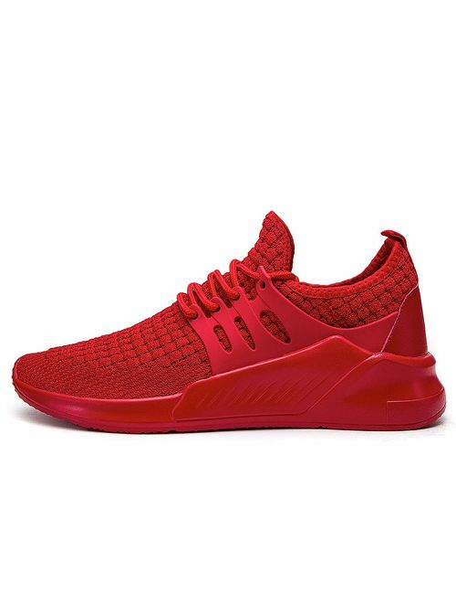 QZBAOSHU Running Shoes for Men Casual Slip On Sneakers Walking Jogging Sport Tennis Trainers