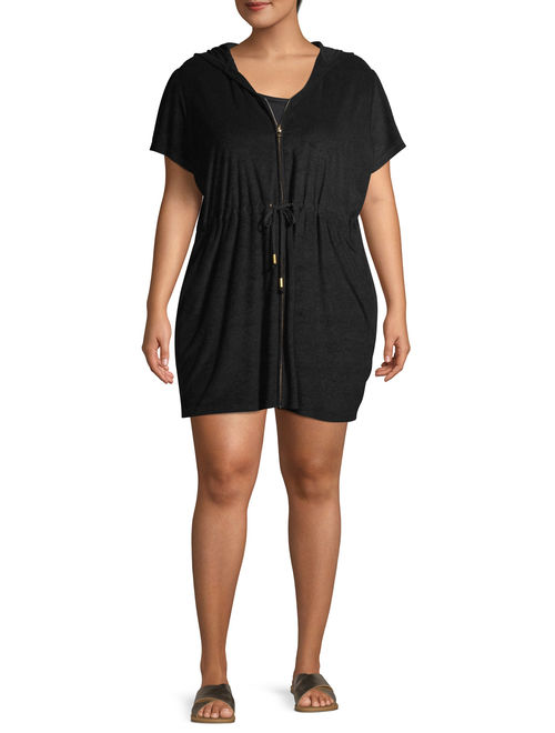 Time and Tru Women's Plus Size Terry Cloth Swim Coverup