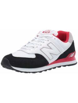 Men's 574v2 Sneaker, Black/team Red, 5 2e Us